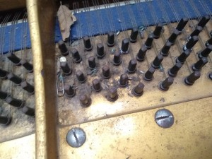 Tuning pins - before cleaning and polishing
